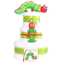 The Very Hungry Caterpillar 3 tier Nappy Cake Gift unisex neutral new baby shower Hamper basket - The Very Hungry Caterpillar Gifts