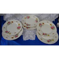 Exquisite SHELLEY CHANTILLY Cabinet / Dinner Plates Hand Painted and Artist Signed - Artist Gifts