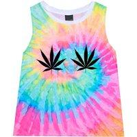 weed cannabis TIE DYE T Shirt sleeveless tee top tank womens girls top tumblr hipster grunge retro vtg indie boho swag goth punk drugs high - Cannabis Gifts