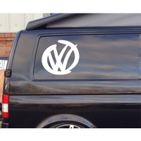 2 x Large VW Logo Brush Stroke Style Decal for Car/Home/Windows - Computers Gifts