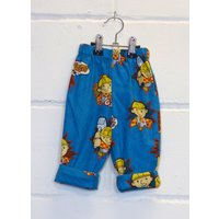 Upcycled Bob The Builder Baby Boy Trousers - Bob The Builder Gifts
