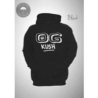 OG Kush Cannabis Strain Hooded Sweatshirt Unisex Smoking Parental Advisory Smoke Weed Hoody - Cannabis Gifts