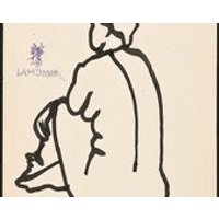 LAM DONG (Henri Matisse protege)  original pen  ink drawing  c1940s (listed Chinese/French artist - Artist Gifts