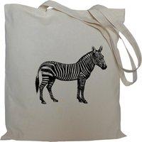 Tote bag/ drawstring bag/ zebra/ cotton bag/ material shopping bag/ shoe bag/ animal/ market bag - Zebra Gifts