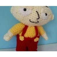 Crochet Stewie  Family guy  Adult Gifts soft toys  Gift for vegan  knitted stewie  Stewie doll  Stewie Family guy - Family Guy Gifts