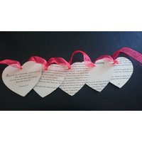 Twilight Fandom Book Bunting Garland Vampire Romance Large Wooden Heart Banner for Decoration / Gift - Vampire Gifts