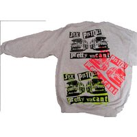 Punk Sweatshirt Sex Pistols PRETTY VACANT Boredom  Nowhere Buses Light Grey Sweater - Sex Pistols Gifts