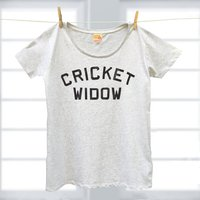 Sport Widow T shirt for Wives or Girlfriends of Cricketers, Golfers, Rugby, Tennis or Darts Players - Darts Gifts