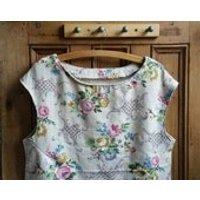 Womens floral top sleeveless blouse medium handmade shirt 50s clothing boho Dolly Topsy Etsy UK - Floral Gifts