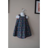 Floral Girls Dress, Toddler Girls Dress, Toddler Dress, Blue Dress, Reversible Pleated Dress, Size 3 Years,  2 in 1 dress, Party dress - Floral Gifts