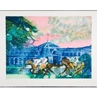 PAUL AMBILLE  Chantilly  large hand signed  numbered vintage lithograph (listed 20th Century French artist) - Artist Gifts