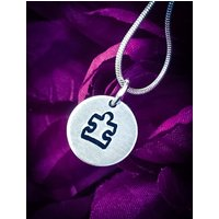 Jigsaw Piece Hand Stamped Necklace / Pendant. Cute Necklace, Jigsaw Necklace, Jigsaw Jewellery, Puzzle Piece Jewellery, Jigsaw Piece Jewelry - Jigsaw Gifts