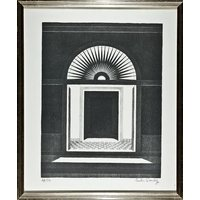EMILIO SANCHEZ  Doorway  hand signed  numbered lithograph  framed (listed 20th Century artist) - Artist Gifts