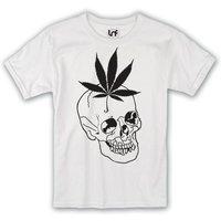 Cannabis Leaf Skull Mens TShirt (SB731) - Cannabis Gifts