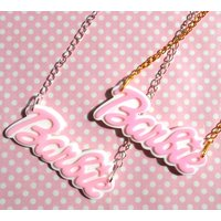 Pastel Barbie name necklace - Barbie Gifts