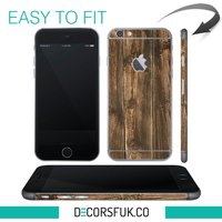 Brown Wood iPhone 6 wrap skin  iphone skins  covers for iphone  just the back - Computers Gifts