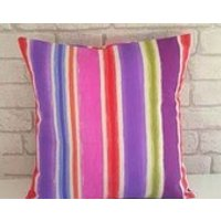 Bright Funky CushionStriped Scatter CushionLiving Room DecorBedroom PillowFor the HomeGift for HerHouse Warming GiftFunky Pillow - Warming Gifts