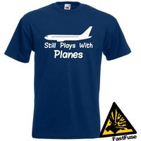 Still Plays With Planes TShirt Joke Funny Tshirt Tee Shirt Gift RC Model Airplane Pilot Flying Airliner Engineer Technician - Rc Gifts