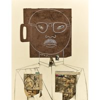 CHET LA MORE  So sorry  original vintage collage  c1970s  large (mid century. Listed American artist. Basquiat int) - Artist Gifts