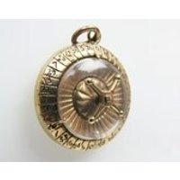 English 9 Carat 9K Gold Mechanical Roulette Wheel Pendant Charm. Big 9.7 Grams. Hallmarked Manshaw Hatton Garden London Necklace Pendant - Roulette Gifts