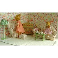 Vintage Doll  Shabby Chic Pink LIVING ROOM for Madame Alexander, Betsy, Blythe, Bratz, Ginny, Patch, Pepper,Riley Kish, Jan,Jill, Toni - Bratz Gifts