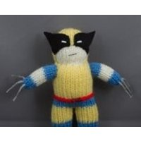 Wolverine, Hand Knitted, Toy, Plushy, Mascot - Wolverine Gifts