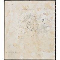 ANDREW WYETH  Study of Helga  original vintage drawing  c1970s (important 20th Century American artist) - Artist Gifts