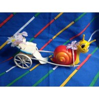 Vintage Hornby Flower Fairies 1983 SNAIL CARRIAGE rare hard to find fairy doll accessory faerie pixie elf woodland creature Little Toy Lost - Hornby Gifts