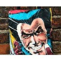 Mini Marvel tote  Logan (Wolverine). Comic book XMen, book bag, shoe bag - Wolverine Gifts