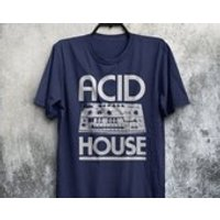 Acid House Dance Music Roland TB303 Bass Synth Synthesiser 303 DJ 80s Adults Mens  Womens Tshirt Top Tee Shirt All Sizes And Colours - Dj Gifts