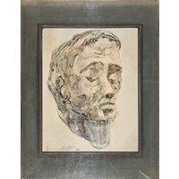 RICHARD BENEDETTI  original surrealist vintage painting  c1971 (listed 20th Century American artist  Salvador Dali protege) - Artist Gifts