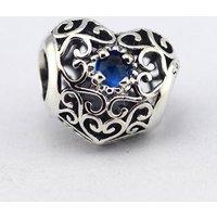 Pandora December Signature Heart London Blue Crystal Birthstone Charm 791784NLB - Pandora Gifts