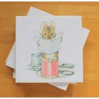 Beatrix Potter Coasters,Original Drawings,Drinks Coasters,Set of Coasters,Ceramic Coaster Set,Peter Rabbit,Mrs Tiggywinkle,Jemima Puddleduck - Beatrix Potter Gifts