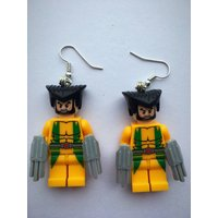 Wolverine mini figure earrings, great gift, comic con, gifts for her. comic book jewellery - Wolverine Gifts