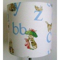 Beatrix Potter Benjamin Bunny Alphabet Handmade Nursery ceiling Lampshade - Beatrix Potter Gifts