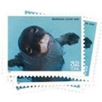 1 x Hawaiian Monk Seal UNused 32 cents US postage stamp  1995  Hawaii Cute Ocean Sea Beach Eyes Blue  mail art, invites, stamp crafts - Hawaiian Gifts