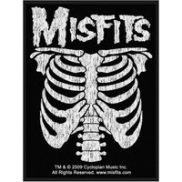 MISFITS Ribcage sew on patch 2009(c) Cyclopian Music Inc.  rare patch.  Officially licensed - Misfits Gifts