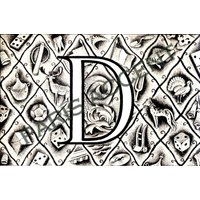 Instant digital download of Letter D from Nouveau Petit Larousse Illustr a French Encyclopedia. Great for arts and crafts! Dated 1952 - Arts And Crafts Gifts