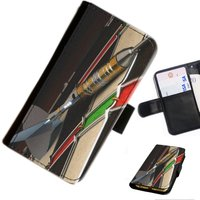 Gam 02 Darts custom Leather PU wallet phone case for Samsung, LG, Motorola, Sony, Google, Huawei, Alcatel with card slots, money slots - Darts Gifts