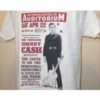 The Fabulous Johnny Cash Show :  Minneapolis Auditorium Poster T Shirt  Retro Music Apparel Fashion Graphic Tee Men  Women 139 - Johnny Cash Gifts
