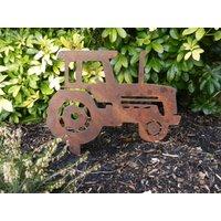 Rusty Metal Tractor / Tractor Garden Art / Tractor gift / Farm Gift / Massey Gift / John Deere / Metal Garden Ornament / Rusty Garden Decor - Farm Gifts