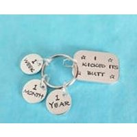 Handstamped unique Motivational quit smoking keyring comes complete with 3 tags - Smoking Gifts