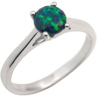 1ct Equinox Opal Solitaire Engagement Ring Sterling Silver (108) OP19 - Engagement Ring Gifts