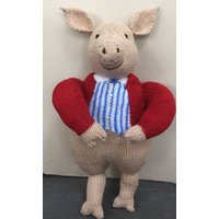 Hand Knitted Pigling Bland (from Beatrix Potter) Doll ( ALL proceeds to the Cystic Fibrosis Trust) - Beatrix Potter Gifts