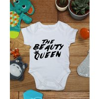 The Beauty Queen  baby vest boys girls grow, Little Hippo, Bodysuit, Hippy, Printed Babies Wear Clothing, Made To Order, Handmade, Gift - Hippo Gifts