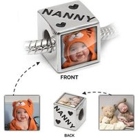 Nanny Photo Charm  Personalised Bead for Pandora  925 Sterling silver custom charm ideal for Nannys or as memorial charms  Custom Photos - Pandora Gifts