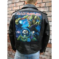 Metalworks Iron Maiden Final Frontier Leather Jacket - Iron Maiden Gifts
