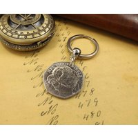 Commemorative 2016 Beatrix Potter Mrs Tiggy Winkle 50 pence Coin Keychain - Beatrix Potter Gifts