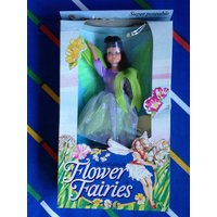 Vintage Hornby Flower Fairies 1983 PLUM Fairy Cicely Mary Barker 1980s faerie posable doll purple lilac green costume dress wings MIB box - Hornby Gifts