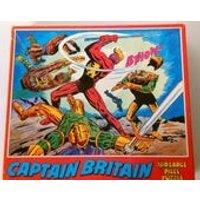 1976 CAPTAIN BRITAIN Jigsaw Puzzle. Vintage Marvel Comics Super Hero. 180 Piece Whitman Puzzle. Retro Rare Collectible. Good Condition. - Jigsaw Puzzle Gifts